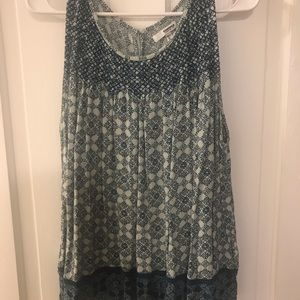 Sonoma pleated tank. size XL